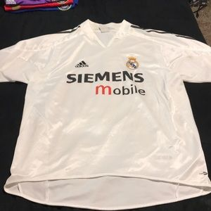 Retro Real Madrid home soccer jersey